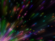 Lots of colorful particles emission Stock Images