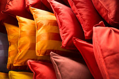 Lots of colorful pillows Stock Images