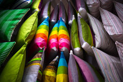 Lots of colorful pillows Stock Photos