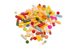 Lots of colorful pills Royalty Free Stock Image