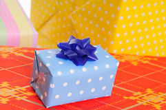 Lots colorful presents Stock Photo