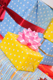 Lots colorful presents Stock Images