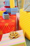 Lots colorful presents Royalty Free Stock Images