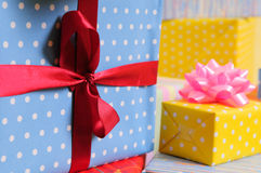 Lots colorful presents Royalty Free Stock Photo