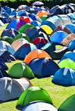 Lots of colorful tents in a camping Stock Image