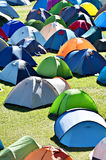 Lots of colorful tents in a camping Stock Photo