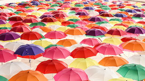 Lots of Colorful Umbrellas Stock Photos