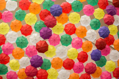 Lots of Colorful Umbrellas Stock Image