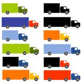 Lots of Colourful Trucks. An illustration featuring an assortment of trucks in all sorts of sizes and colours Royalty Free Stock Photo