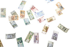 Lots of currencies Royalty Free Stock Image