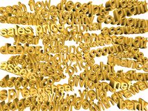 3d words - accounting terms - gold Royalty Free Stock Photography