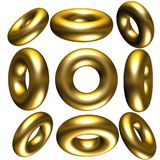 3D circles. Lots of 3d circles at different angles Stock Images