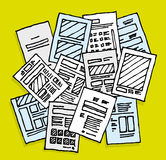 Lots of documents / Messy disorder sheets Royalty Free Stock Photos