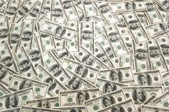 Lots of dollar bank notes Stock Image