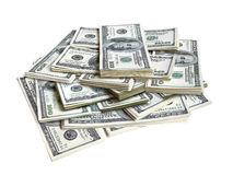 Lots of dollar bills Royalty Free Stock Photos