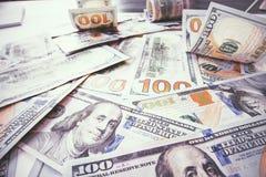 Lots of dollar bills Royalty Free Stock Photo