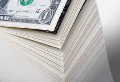 Lots of Dollars Royalty Free Stock Photo