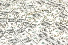 Lots of dollars arranged at the background Royalty Free Stock Images