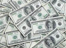 Lots Dollarscheine Lizenzfreies Stockfoto