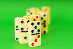 Lots of dominoes on the  background Stock Photo
