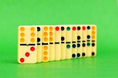 Lots of dominoes on the green Stock Photography