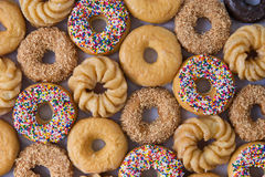 Lots of donuts Royalty Free Stock Image