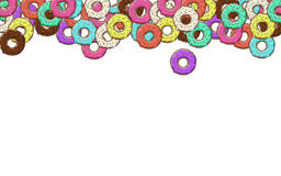 Lots of donuts with colorful Stock Photography