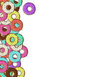 Lots of donuts with colorful Stock Images