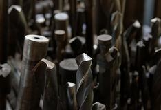 Lots of drills bits stock image