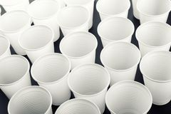 Lots of drinking glasses Stock Image