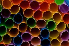 Lots of drinking straws Stock Photo