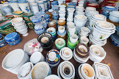 Lots of earthenware pots Royalty Free Stock Photos