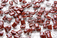 Lots of Electrolitic Capacitors Placed Bulk Royalty Free Stock Photo