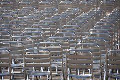 Lots of empty chairs - no audience Stock Photography