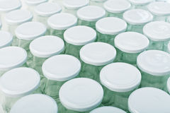 Lots of empty jars Royalty Free Stock Image