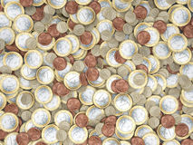Lots of euro coins in detail Stock Image
