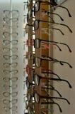 Lots of fashionable eyeglasses an optician shop Stock Photo