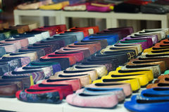 Lots of female shoes Royalty Free Stock Photos
