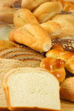 Lots of flavorful breads. Just baked breads ,fine made with organic ingredients Stock Photography