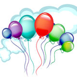 Lots of flying celebration balloons Stock Image