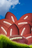 lots of Footballs Stock Photo