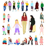 Lots Frauen und Mädchen stellten 02 ein Stockfotografie