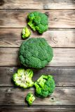 Lots of fresh broccoli stock photography