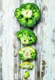 Lots of fresh broccoli royalty free stock photography
