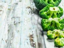 Lots of fresh broccoli stock image