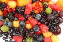 Lots of fresh different berries Stock Photo