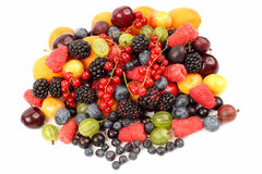 Lots of fresh different berries Royalty Free Stock Images