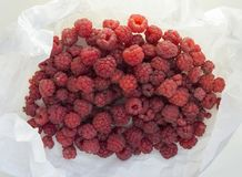 Fresh raspberries, closeup. Lots of fresh ripe raspberries, closeup Stock Photography