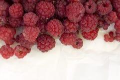 Fresh raspberries, closeup. Lots of fresh ripe raspberries, closeup Stock Photo