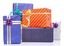 Lots of gift packages Royalty Free Stock Photography